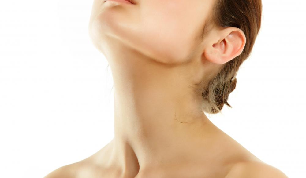 Proper diet and exercise can help prevent neck wrinkles.