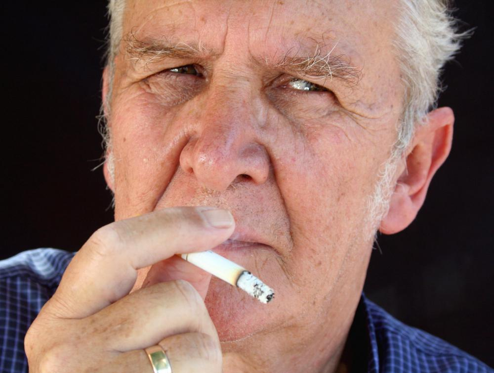 Smokers are believed to gray at an earlier rate than non-smokers.