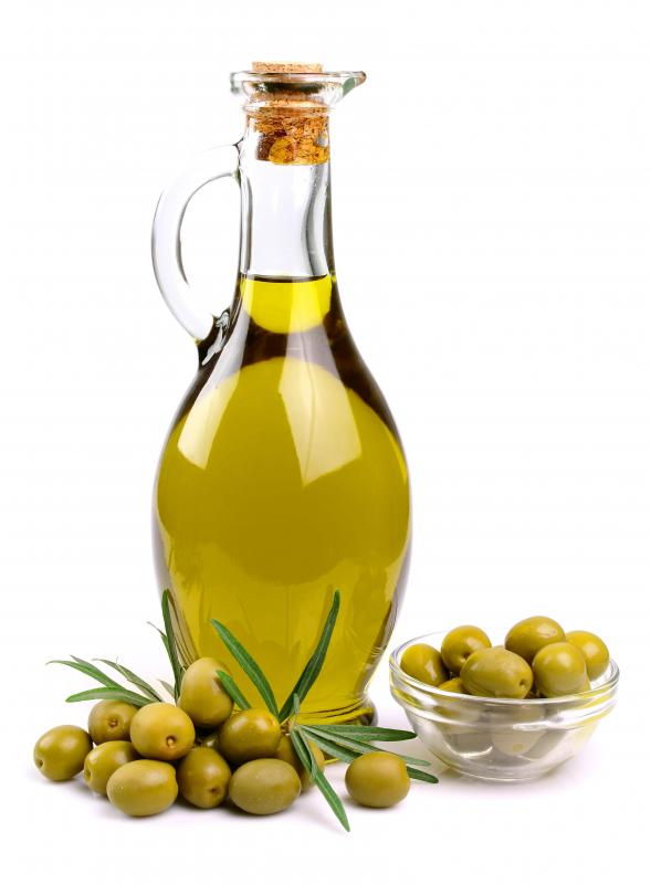 Olive oil moisturizes rough cuticles and dry hands.