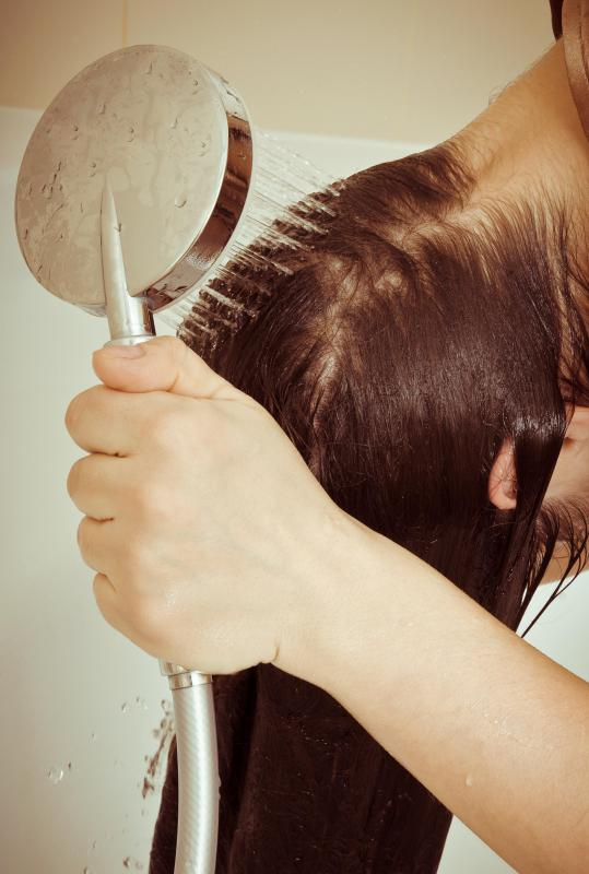 Hair lotions containing eggs are generally rinsed out of the hair after an hour or more.